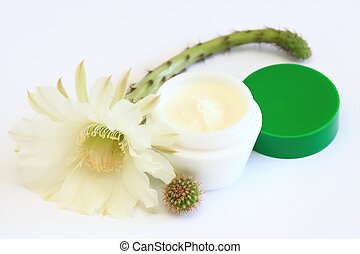 Face and body cream - Decorated with tender cactus flower...