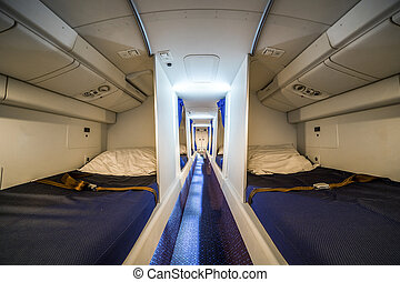 Luxury cabin for airplane crew that enables them to rest and...