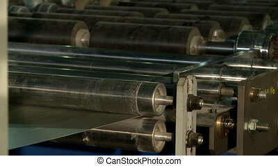 View on sheet metal passes through rollers - SIP production....