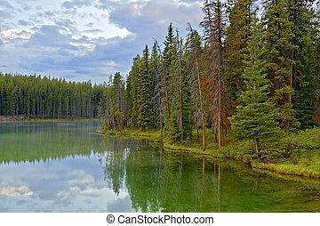 Herbert Lake, Banff National Park, Canada - Herbert Lake in...