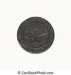 vendimia, moneda, aislado