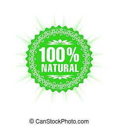 100% natural guarantee label