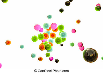 gumball - 3d illustration of gamballs isolated on white...