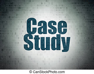 Education concept: Case Study on Digital Data Paper background