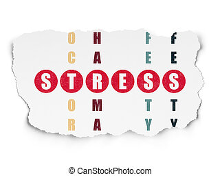 Health concept: Stress in Crossword Puzzle