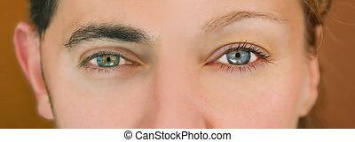 Green - blue eyes.