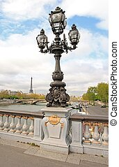 candelabro, de, Alexandre, III, Puente