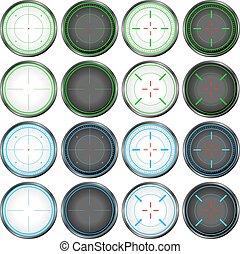 Sniper Scope Target Colorful Set