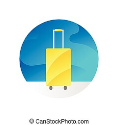 Travel Icon with Luggage