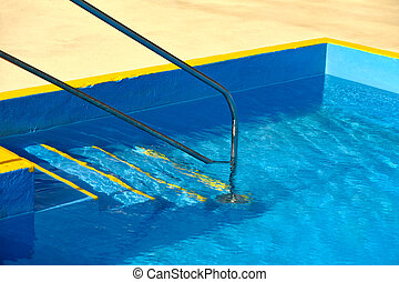 Steps into a swimming pool - detail