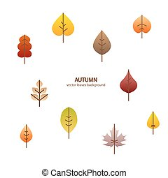 Vector fall leaves tree background nature design