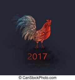 Chinese New Year of the Rooster - Vector Chinese New Year of...
