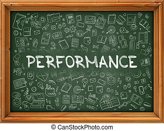 Green Chalkboard with Hand Drawn Performance - Green...
