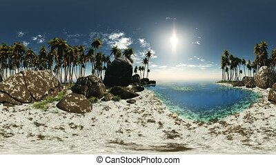 panoramic of tropical beach. made with %u043Ene 360 degree...