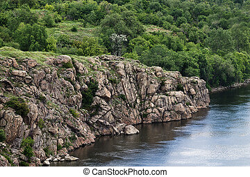 bank of the Dnieper steep rocky slope