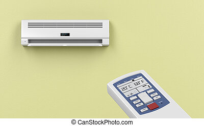 Remote controlled air conditioner - Remote controlled split...
