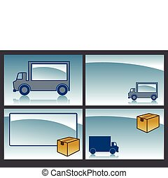 parcel service - various backgrounds for parcel service -...