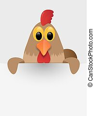 Rooster with place for you text.