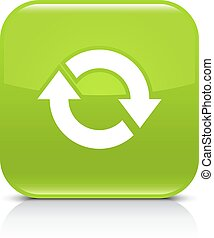 Green arrow repeat, reload, refresh, rotation icon - Green...