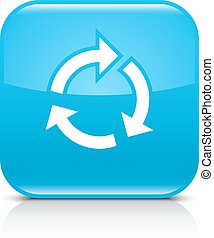 Blue arrow repeat, reload, refresh, rotation sign - Blue...