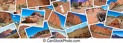 Australian Outback photo collage.