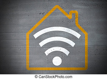 smart home icon concept background.