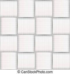 White Strips. Basketwork art. - Seamless pattern. Mask was...