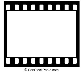 35 mm film frame - Artwork of 35mm film frame with sprocket...