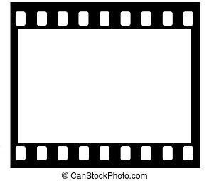 35 mm film frame - Artwork of 35mm film frame with sprocket...