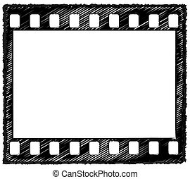35mm frame sketch outline 2 - Sketch style artwork of 35mm...