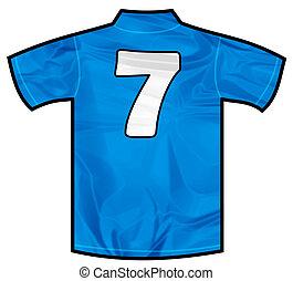Blue shirt seven - Number 7 seven Blue sport shirt as a...