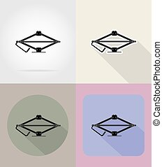 car jack flat icons vector illustration - car jack flaticons...