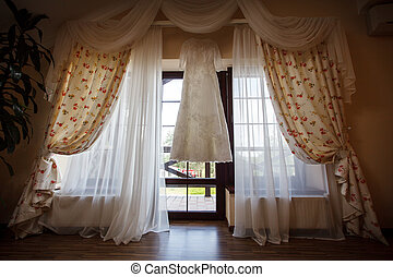 Beautiful White Wedding Gown Window - Beautiful White...