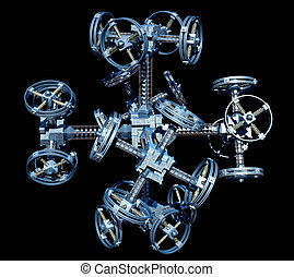 Futuristic Space Station - 3d Illustration of an alien...