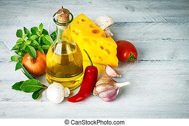 食物, 藥草, 意大利語, 成分