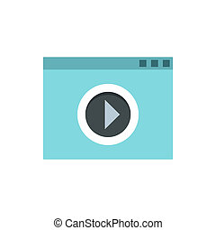 Video movie media player icon, flat style - icon in flat...