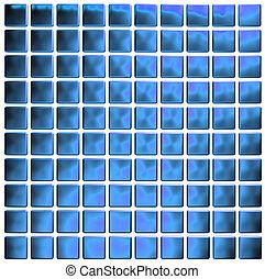 blue mosaic (3d render)