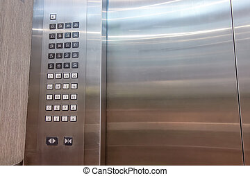 Detail of lift or elevator key pad ,elevator buttons panal