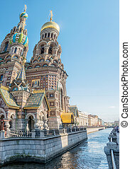 Church of the Savior on the Spilled Blood in St. Petersburg,...
