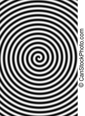 Hypnotising - Illustrated abstract black and white twisted...