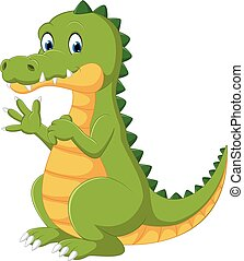 Happy fun crocodile cartoon