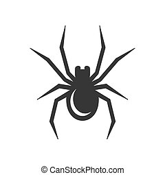 Black Spider Icon. Vector - Spider Icon on White background....