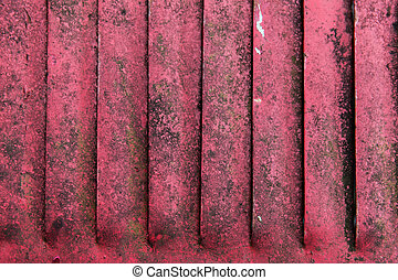 close up of old red rusty metal flaps - texture and...
