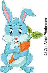 Cartoon happy rabbit