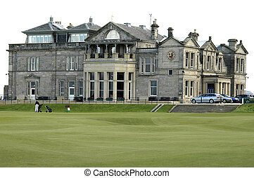 Saint Andrews golf club - St Andrews Links in the town of St...