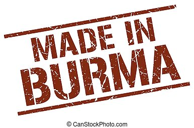 made in Burma stamp
