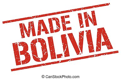 made in Bolivia stamp