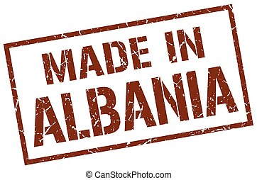 made in Albania stamp