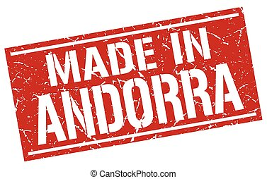 made in Andorra stamp