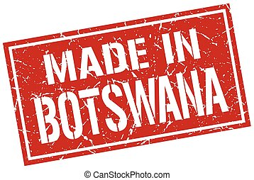 made in Botswana stamp